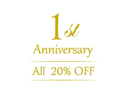 1st Anniversary 20%OFFキャンペーン