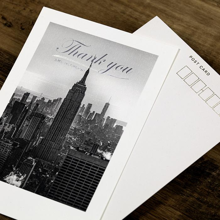 箔押しポストカード印刷