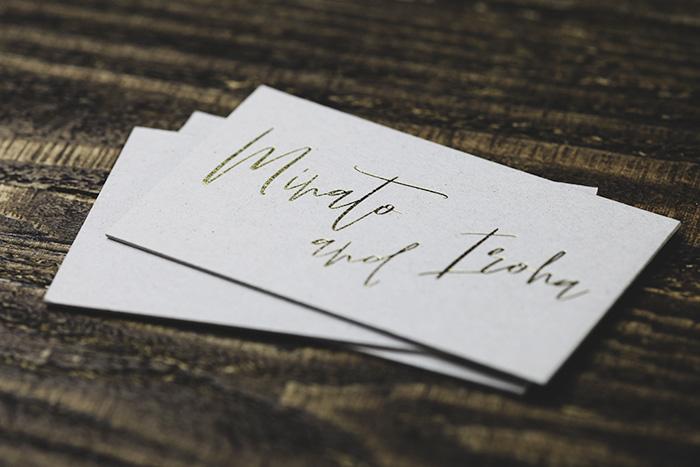 箔押しショップカード印刷