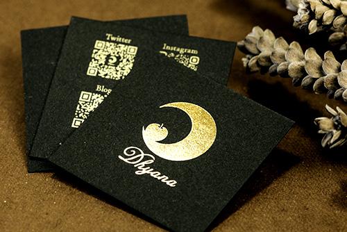 製作事例 No.5 箔押しカード印刷のイメージ画像
