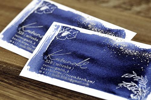 製作事例 No.19 箔押しカード印刷のイメージ画像