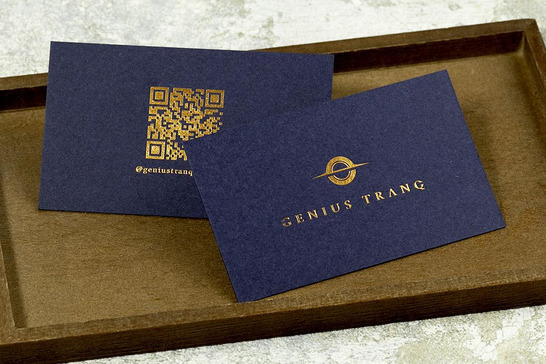 製作事例 No.20 箔押しショップカード印刷のイメージ画像1