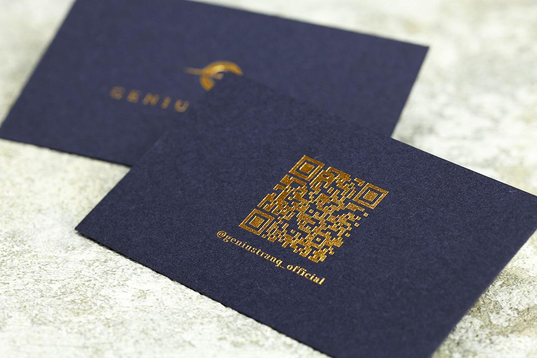 製作事例 No.20 箔押しショップカード印刷のイメージ画像3